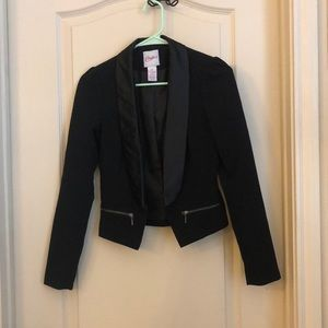 Juniors Candies Black Dress Blazer